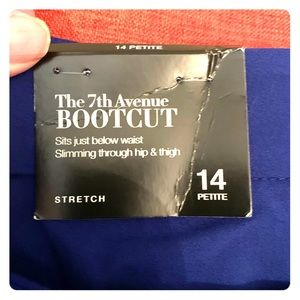 New York & Company bootcut pants. 14 Petite Blue